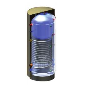 Akumulācijas tvertnes ar iebūvētu ūdens sildītāju (1 siltummaiņis)